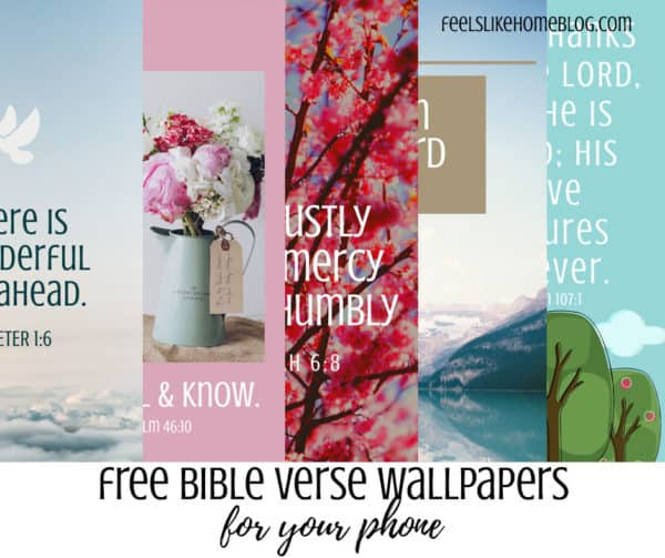 Awesome free Bible verse phone wallpaper backgrounds - These beautiful graphics include flowers and landscapes with full-color photos and illustrations. Easy to read fonts and quotes from the BIble.