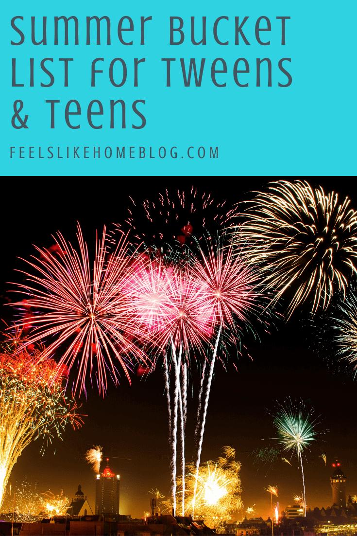 Summer Bucket List for Tweens & Teens - Free Family Printable