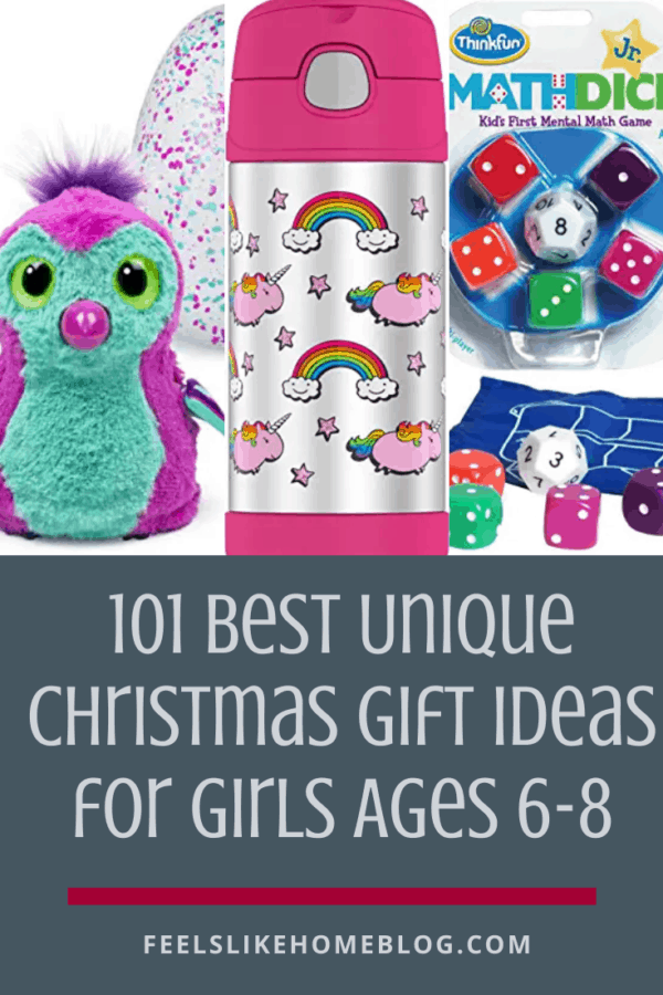 101 awesome & unique Christmas gift ideas for girls who are 6, 7, and 8 years old - These fun ideas are sure to please the little girls in your life! With 101 ideas, there is something on this list for every girl for the holidays or even for birthdays!
