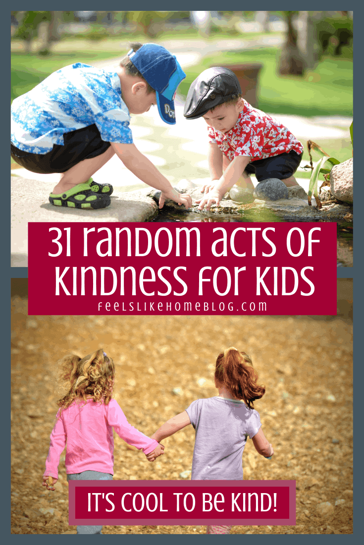 These 31 random acts of kindness to do with your kids are awesome! The list includes printable cards for the ultimate best ideas for any kids or families. Good for teens and tweens as well as adults. Free, low cost options for frugal people. Great for Advent and Christmas time or any time of the year.