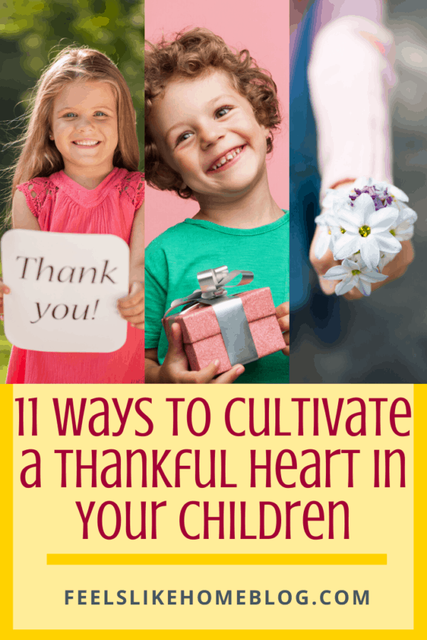 11 Ways to Cultivate a Thankful Heart in Your Children - Free printable activities to teach kids how to be grateful at Thanksgiving and all year. Can be used with children in the classroom or at home.
