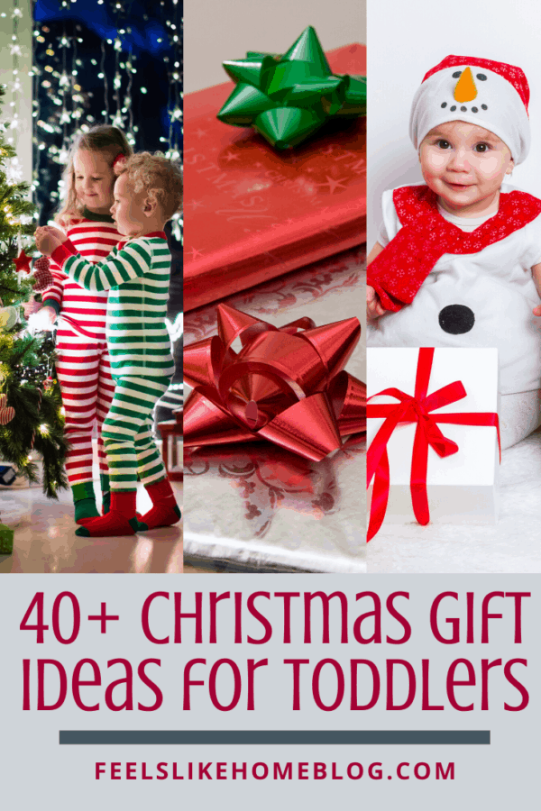 40+ gift suggestions for toddlers - tons of awesome & unique Christmas gift ideas for girls and boys who are 1, 2, and 3 years old - These fun ideas are sure to please the little kids in your life! With so many ideas, there is something on this list for every child for the holidays or even for birthdays!