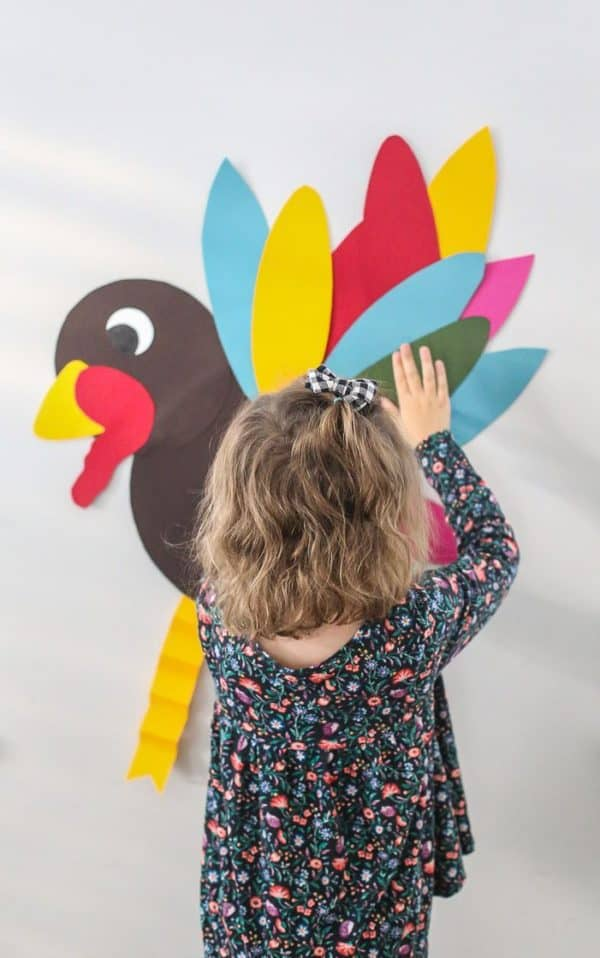 pin-the-tail-on-the-turkey-game-thanksgiving family games