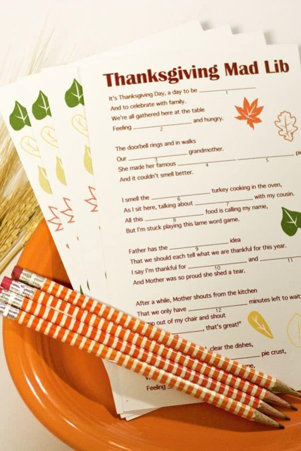 thanksgiving-mad-libs-family games