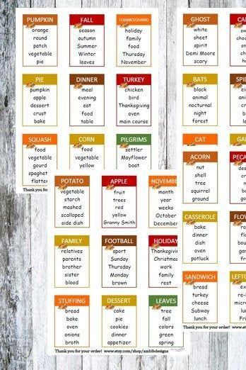 thanksgiving taboo family games