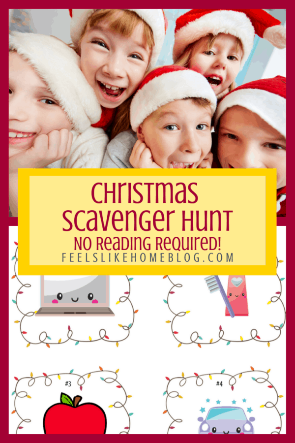Christmas presents scavenger hunt for toddlers, preschoolers, and other little kids - Young children will enjoy the fun clues and ideas in this free printable. The whole family will get into the fun with this mostly indoor treasure hunt. Fun and easy way to give gifts.