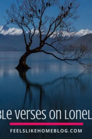 23 Bible verses on loneliness and being alone - Scriptures and truths from God and Jesus Christ to bring you comfort and peace during stressful and lonely times.