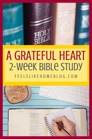 This printable Bible study plan on gratitude includes daily devotions and study pages, scripture writing, and Bible study worksheets in a convenient workbook format. Intended for women (specifically moms), but also appropriate for men, college students, and teenagers. The best study for beginners who need plans and ideas for topics to study. Includes the SOAP method and daily tips for verses to write and understand.