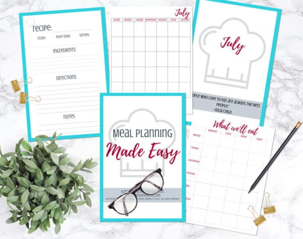 A look inside Meal Planning Made Easy