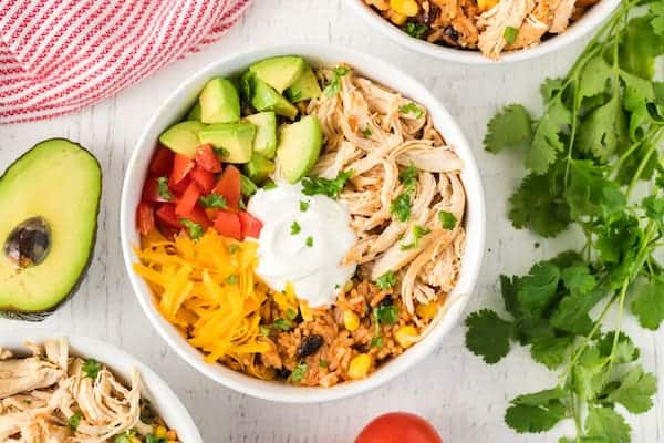 Instant Pot chicken taco bowl