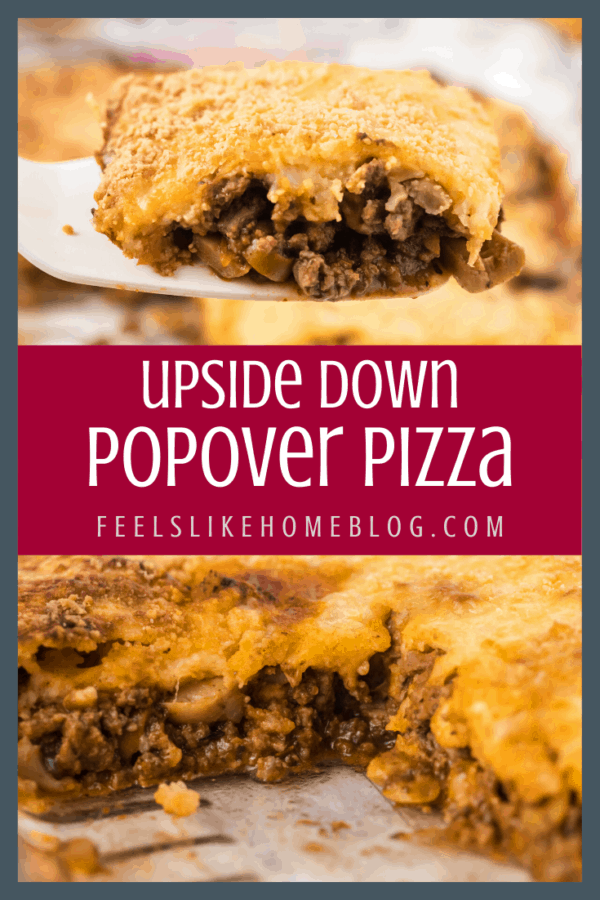 A piece of popover pizza