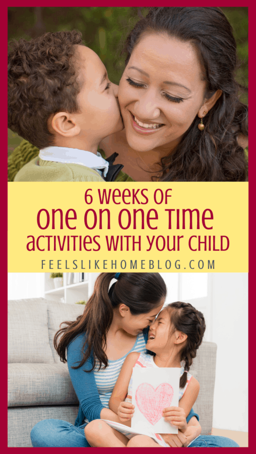 More than a month of one on one time activities with kids - These 48 ideas for one on one time for mom or dad with a son or daughter. Printable cards for use by any adult who wants to spend quality time with any child or teen. Ideas for any age.