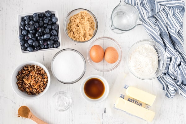 the best old fashioned blueberry cobbler ingredients