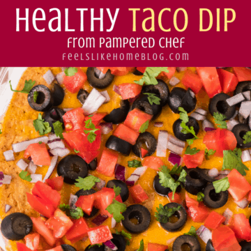 healthy touchdown taco dip