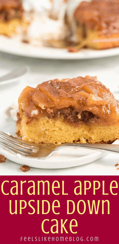 The Best Caramel Apple Upside Down Cake
