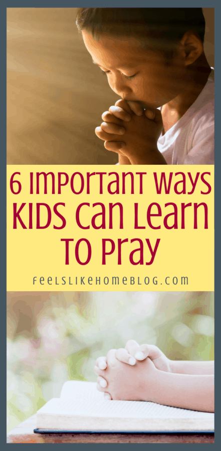 a boy learning to pray