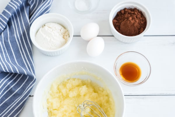 mix up butter and sugar