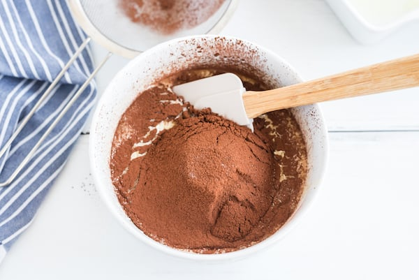 cocoa powder in the batter