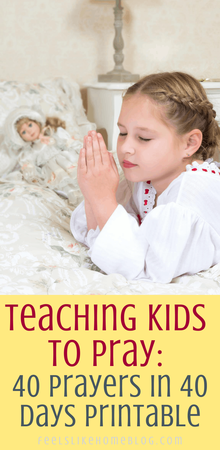 kid learning to pray